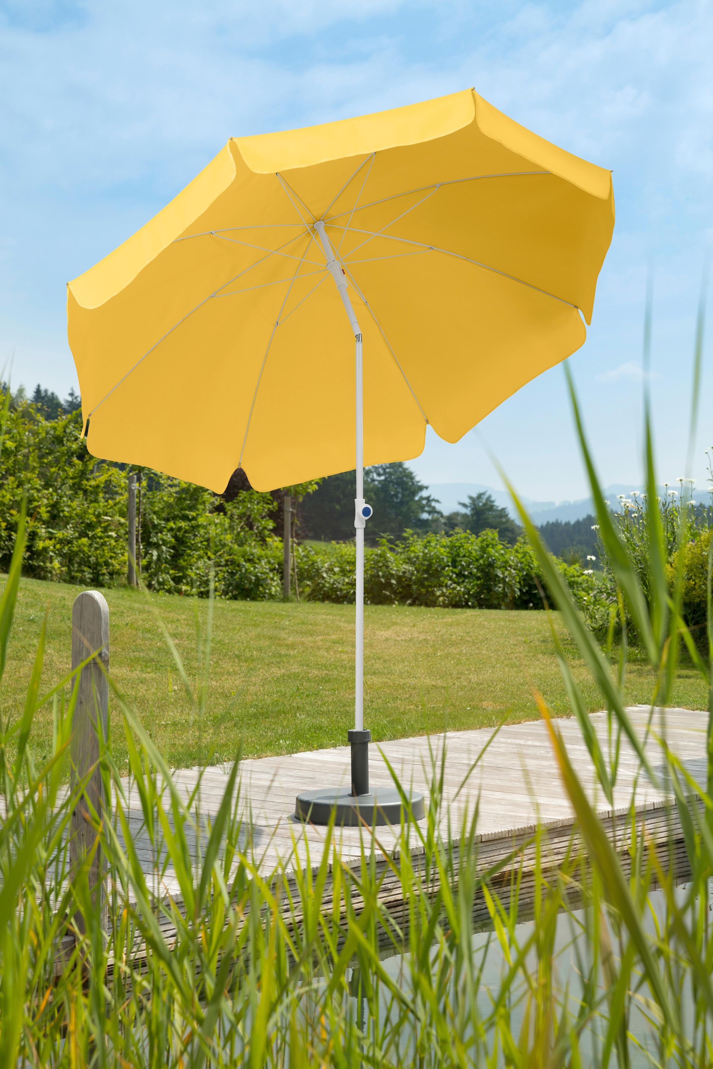 Schneider Schirme Sonnenschirm Ibiza, abknickbar, ohne Schirmständer gelb Sonnenschirme Garten Balkon