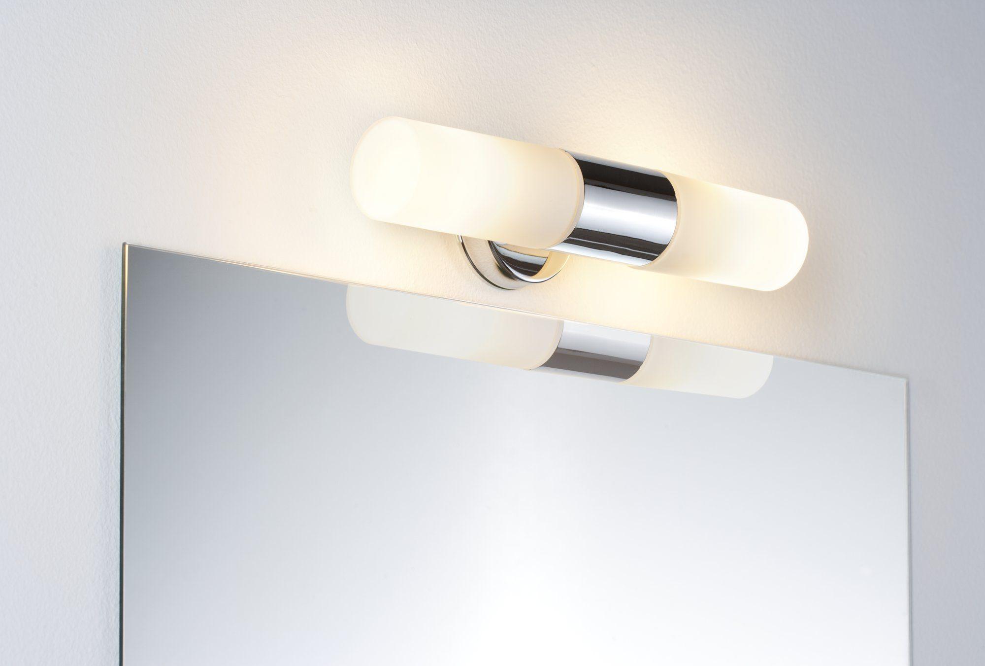Paulmann,LED Wandleuchte Spiegelleuchte Lenia max. 2x20W Chrom Opak Metall Glas E14