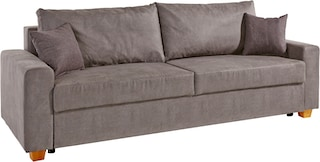 home affaire schlafsofa merano mit bettkasten und federkern polsterung kaufen baur. Black Bedroom Furniture Sets. Home Design Ideas