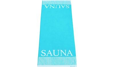 Schiesser Saunatuch »Rom«, (1 St.), Sauna-Aufschrift kaufen