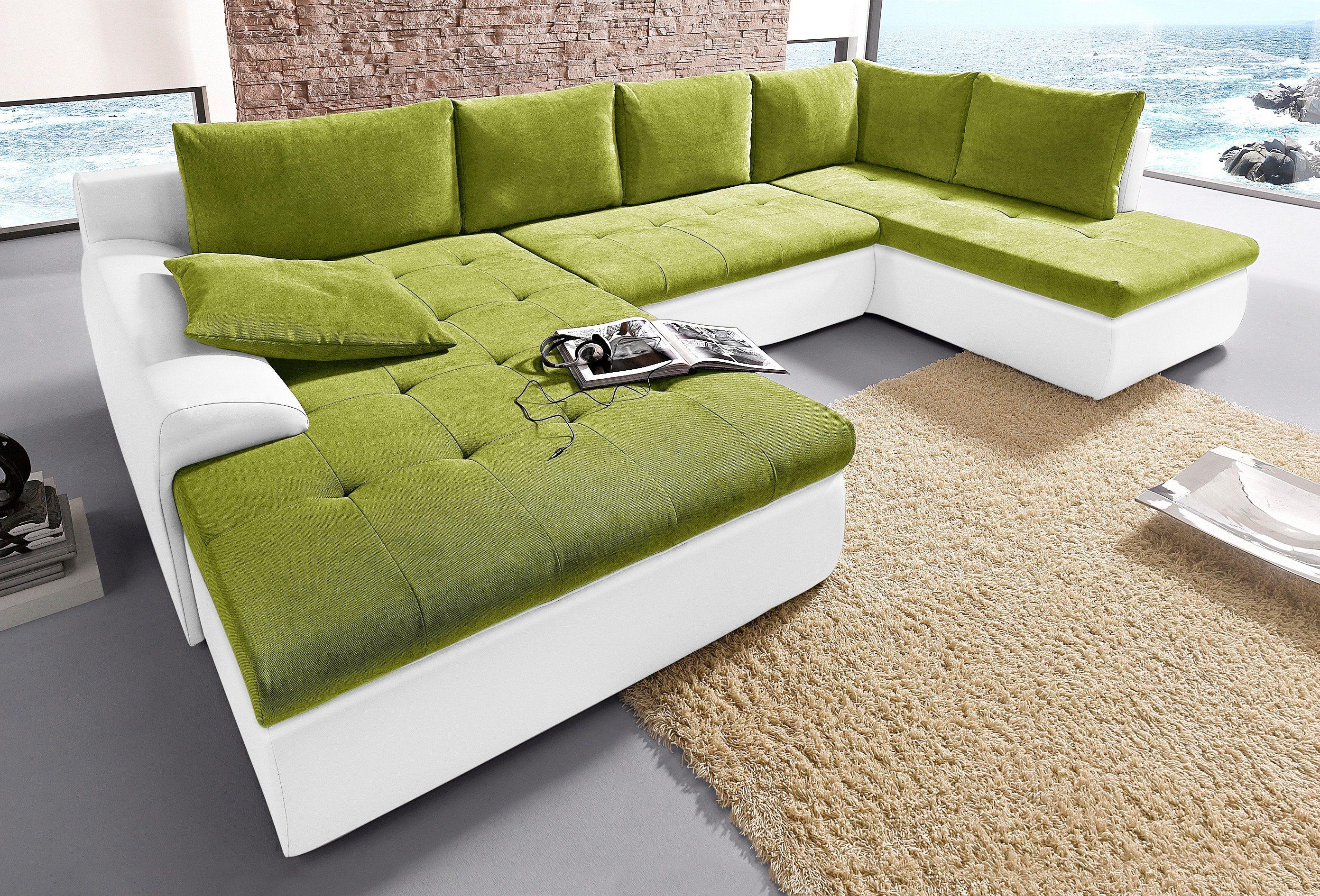 Wohnlandschaft | Wohnzimmer > Sofas & Couches > Wohnlandschaften | Grün | Kunstleder