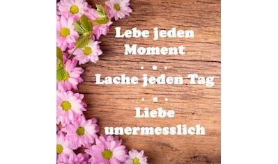 Leinwandbild »Spruch: Lebe Lache Liebe« kaufen