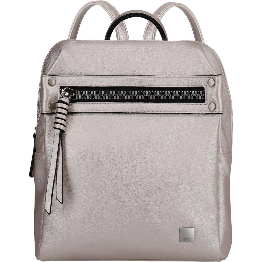 TITAN® Cityrucksack »Spotlight Zip, Metallic Pearl«