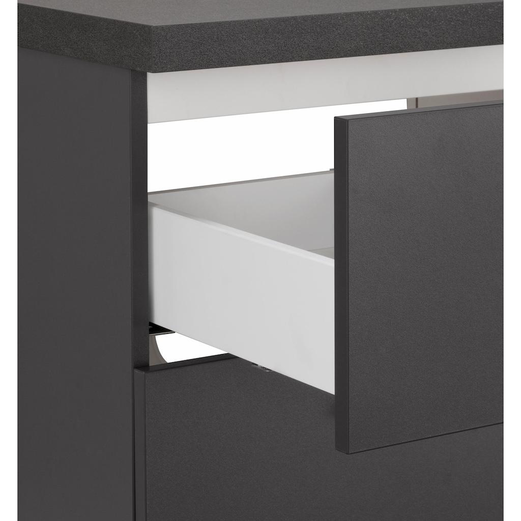 OPTIFIT Waschtisch »Doha«, mit Soft-Close-Funktion, Aufsatzbecken eckig