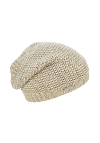 Seeberger Strickmütze »lässige Mütze in glänzendem Streifendesign 18245-0« kaufen