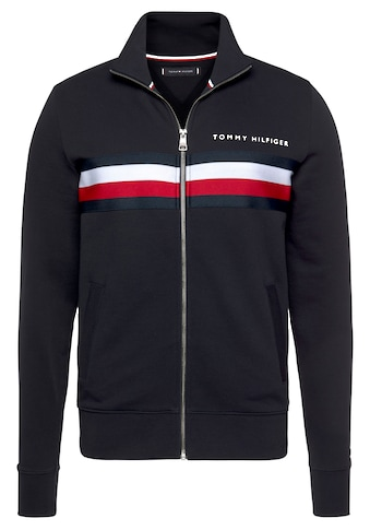 TOMMY HILFIGER Sweatjacke »HILFIGER LOGO ZIP THROUGH« kaufen
