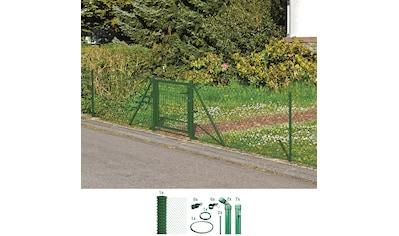 GAH ALBERTS Set: Maschendrahtzaun 175 cm hoch, 15 m, grün beschichtet, zum Einbetonieren kaufen