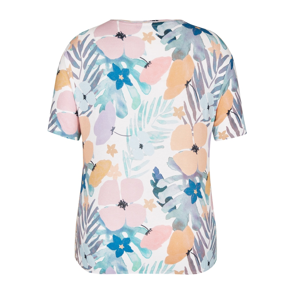 LeComte Shirt mit Allover-Print und Rundhalsausschnitt