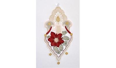 Stickereien Plauen Fensterbild »Kerzenschein« kaufen