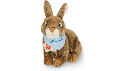 Teddy Hermann® Kuscheltier »Hase dunkelbraun mit blauem Halstuch, 25 cm«, mit individueller Bestickung kaufen