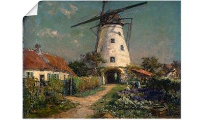 Artland Wandbild »Bauerngarten bei einer Windmühle.«, Gebäude, (1 St.), in vielen... kaufen
