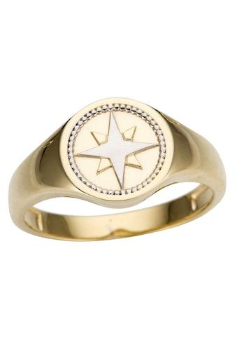 Firetti Goldring »Siegelring Kompass, edel, teilweise rhodiniert« kaufen