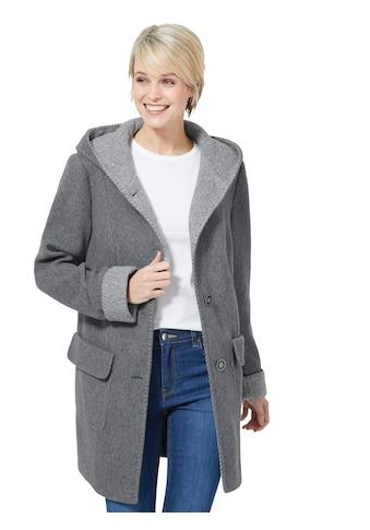 Casual Looks Jacke mit farblich abgesetzter Kapuze kaufen