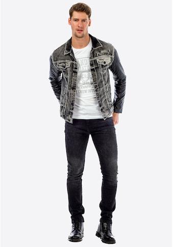 Cipo & Baxx Jeansjacke, mıt kontrastfarbenen Nähten kaufen