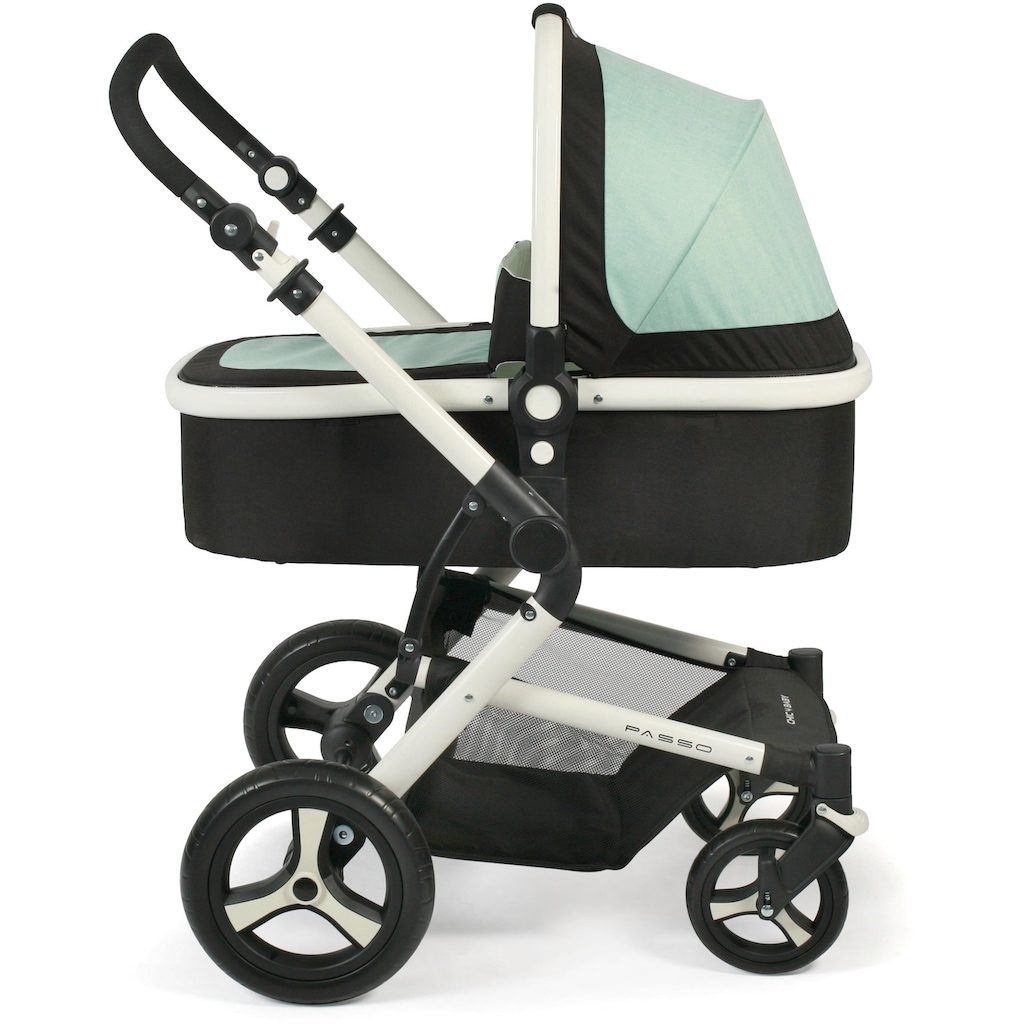 CHIC4BABY Kombi-Kinderwagen »Passo, mint«, 15 kg, ; Kinderwagen