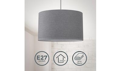 B.K.Licht LED Pendelleuchte, E27, Hängeleuchte, LED Hängelampe Stoff Textil Lampenschirm Deckenlampe Esstisch Wohnzimmer E27 grau kaufen