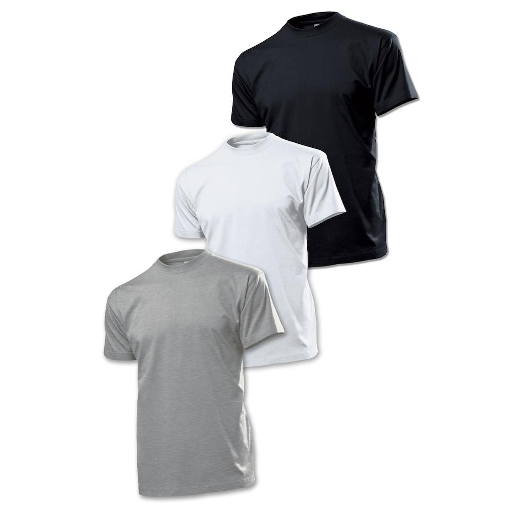 Stedman T-Shirt im 3er-Pack mit bequemem Rundhalsausschnitt