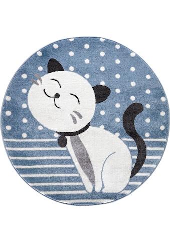Festival Kinderteppich »Candy 158«, rund, 11 mm Höhe, Motiv Katze kaufen