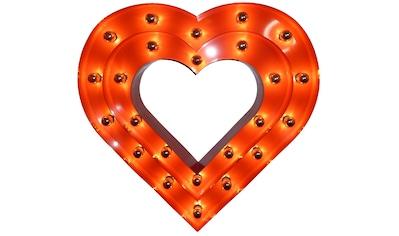 MARQUEE LIGHTS LED Dekolicht »Herz Silhouette«, E14, 1 St., Warmweiß, Wandlampe,... kaufen