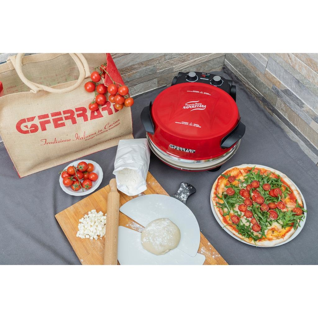 G3Ferrari Pizzaofen »Napoletana G1003202«, 1200 W, bis 400 Grad mit Naturstein – inkl. 2-ten Stein zum Überbacken / Pizza und Fladen uvm. in 3 Minuten / die Nr. 1 der Pizzamaker/ auch für Tisch und Garten