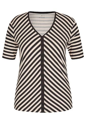 Rabe V-Shirt, mit gestreiftem Muster und halblangen Ärmeln kaufen