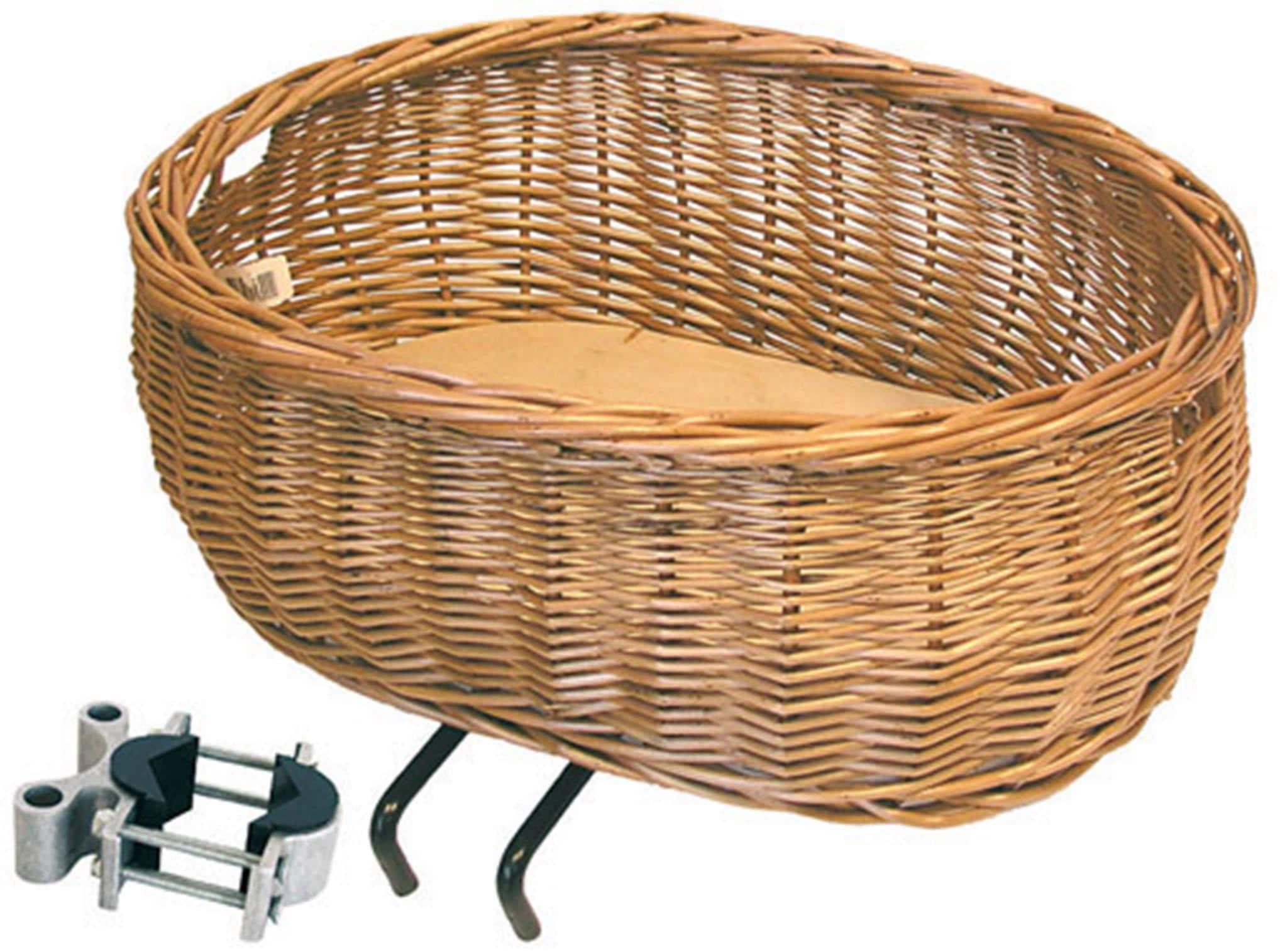 Basil Fahrradkorb Weidenkorb Pluto braun Fahrradkörbe Fahrradzubehör Fahrräder Zubehör Taschen