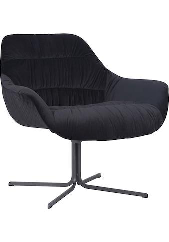 Guido Maria Kretschmer Home&Living Drehstuhl »Icony«, Sessel mit moderner Raffung, komplett gepolstert kaufen