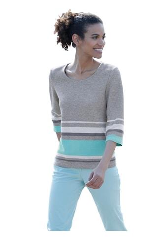 Casual Looks Sweatshirt mit dezenten Blockstreifen kaufen