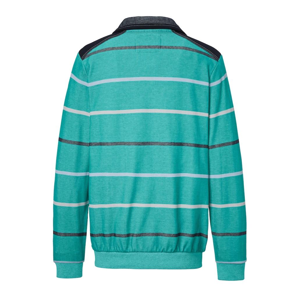 Babista Sweatshirt mit zweifarbigem Streifenmuster