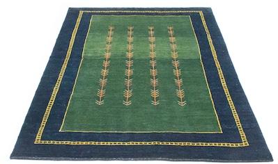 morgenland Wollteppich »Gabbeh Teppich handgeknüpft grün«, rechteckig, 18 mm Höhe,... kaufen