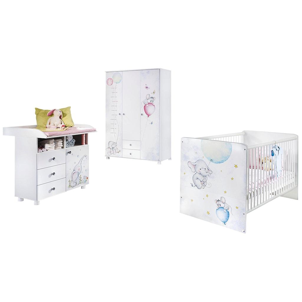 rauch ORANGE Babyzimmer-Komplettset »Vancouver«, (Set, 3 St.), Bett + Wickelkommode + 3 trg. Schrank