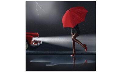 Artland Glasbild »Verregneter Tag«, Frau, (1 St.) kaufen