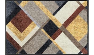 wash+dry by Kleen-Tex Fußmatte »Art Deco«, rechteckig, 7 mm Höhe, Fussabstreifer, Fussabtreter, Schmutzfangläufer, Schmutzfangmatte, Schmutzfangteppich, Schmutzmatte, Türmatte, Türvorleger, In- und Outdoor geeignet kaufen