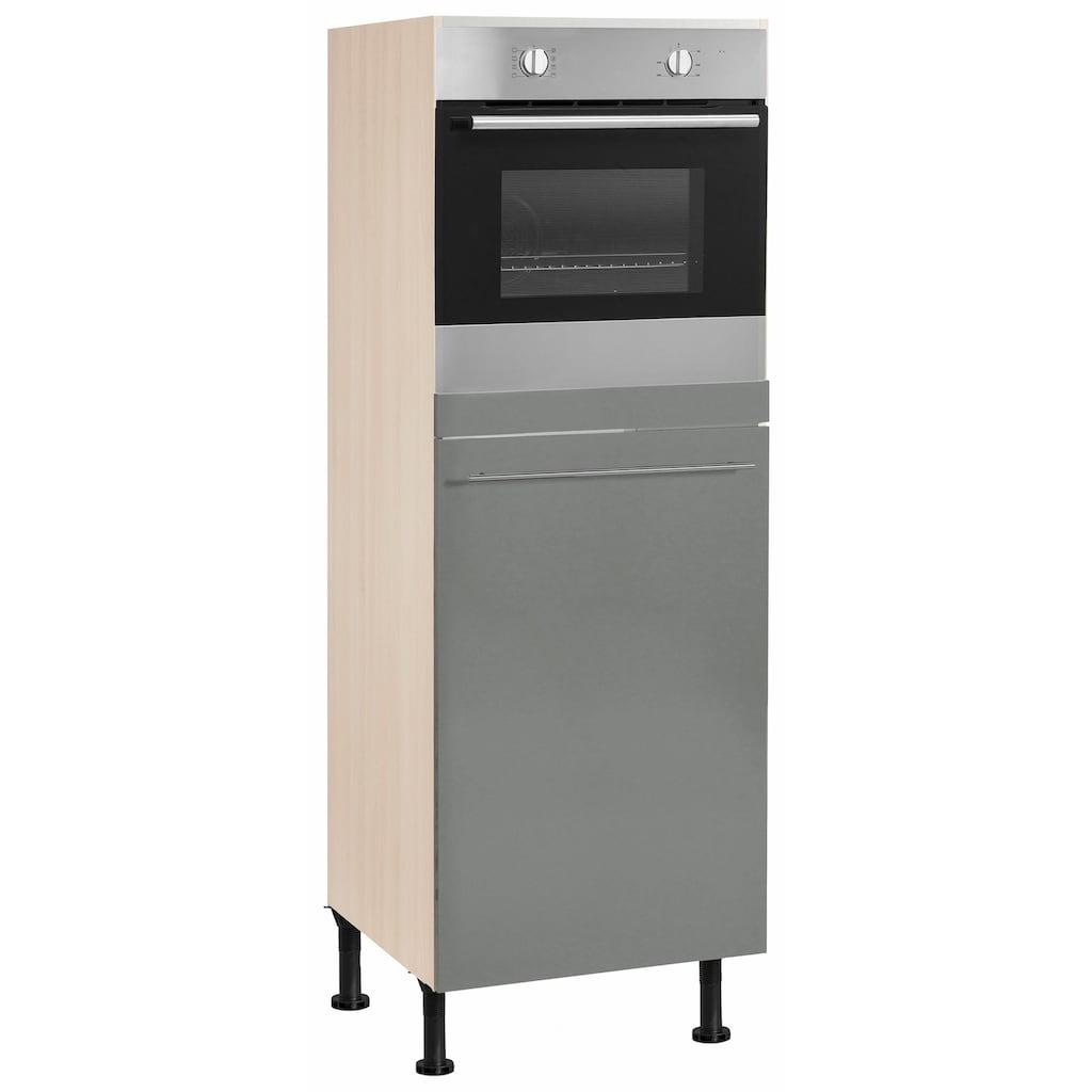 OPTIFIT Backofen/Kühlumbauschrank »Bern«, 60 cm breit, 176 cm hoch, mit höhenverstellbaren Stellfüßen, mit Metallgriff