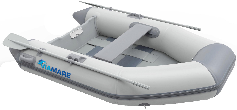 VIAMARE Schlauchboot 190 Slat grau Boote Wassersportausrüstung Sportausrüstung Accessoires