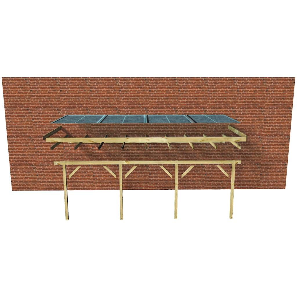 Karibu Terrassendach »Eco Gr. C«, 622 cm Breite, verschiedene Tiefen