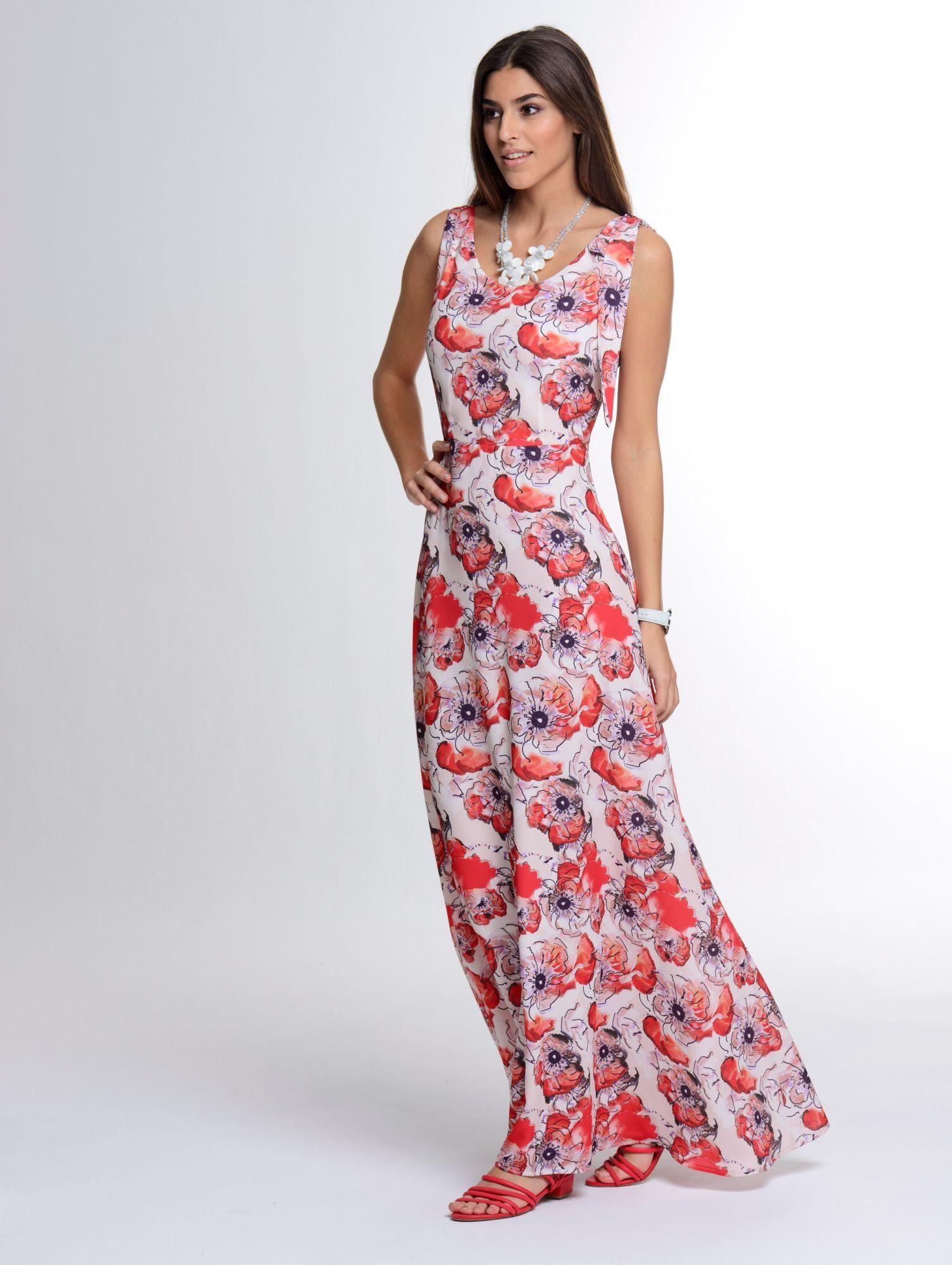 Alba Moda Maxikleid im feminien Dessin