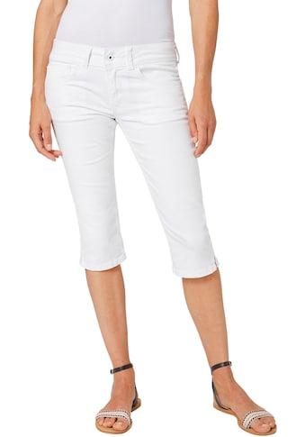 Pepe Jeans Caprijeans »SATURN CROP«, mit Stretch & doppelter Gesäßtasche kaufen