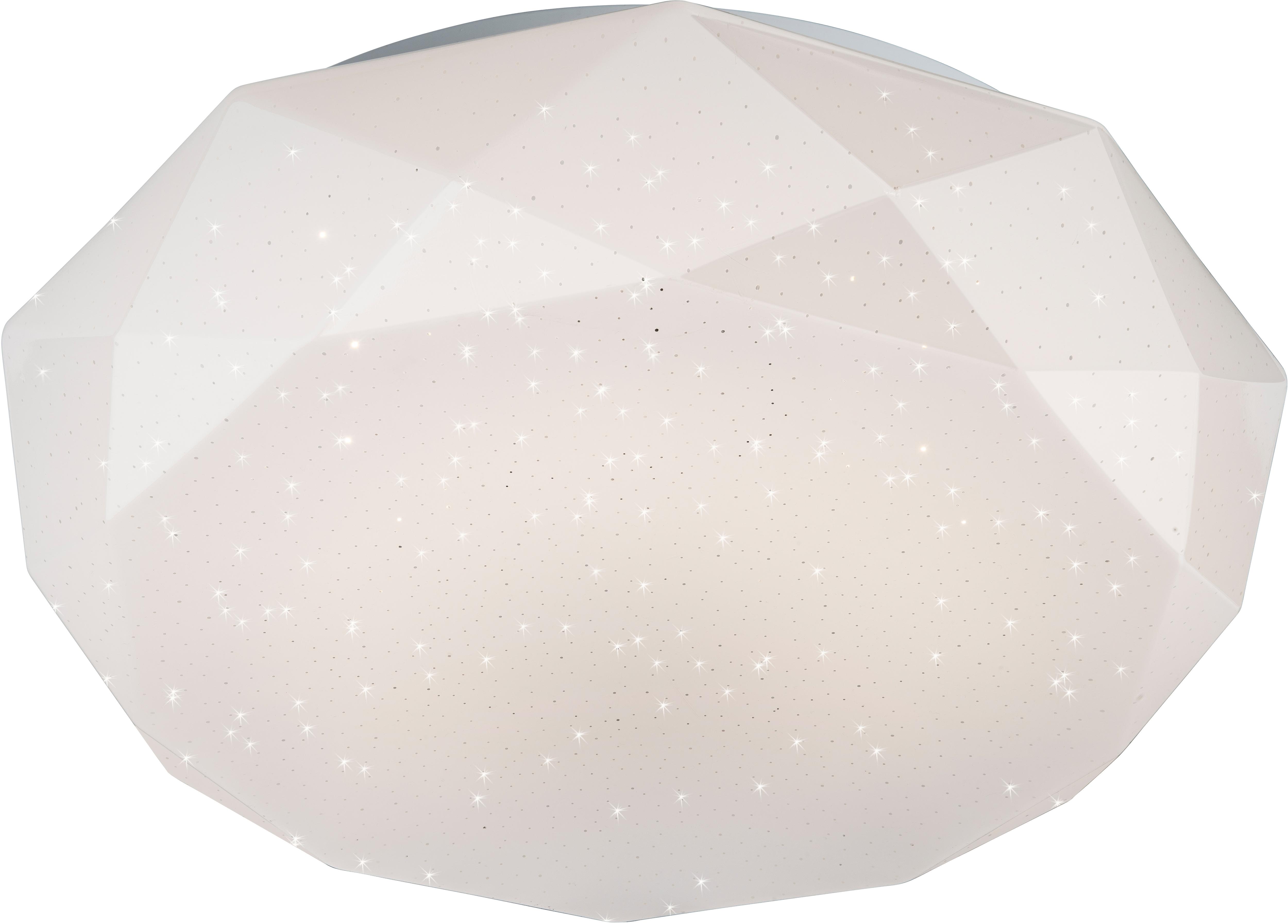 Nino Leuchten LED Deckenleuchte DIAMOND, LED-Board, mit Glitzereffekt