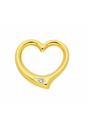 Adelia´s Kette mit Anhänger »333 Gold Anhänger Swingheart mit Diamant - Set mit... kaufen