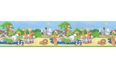 A.S. CRÉATION Bordüre »Only Borders«, mit niedlichen Zoo - Tieren, Kinderzimmer kaufen