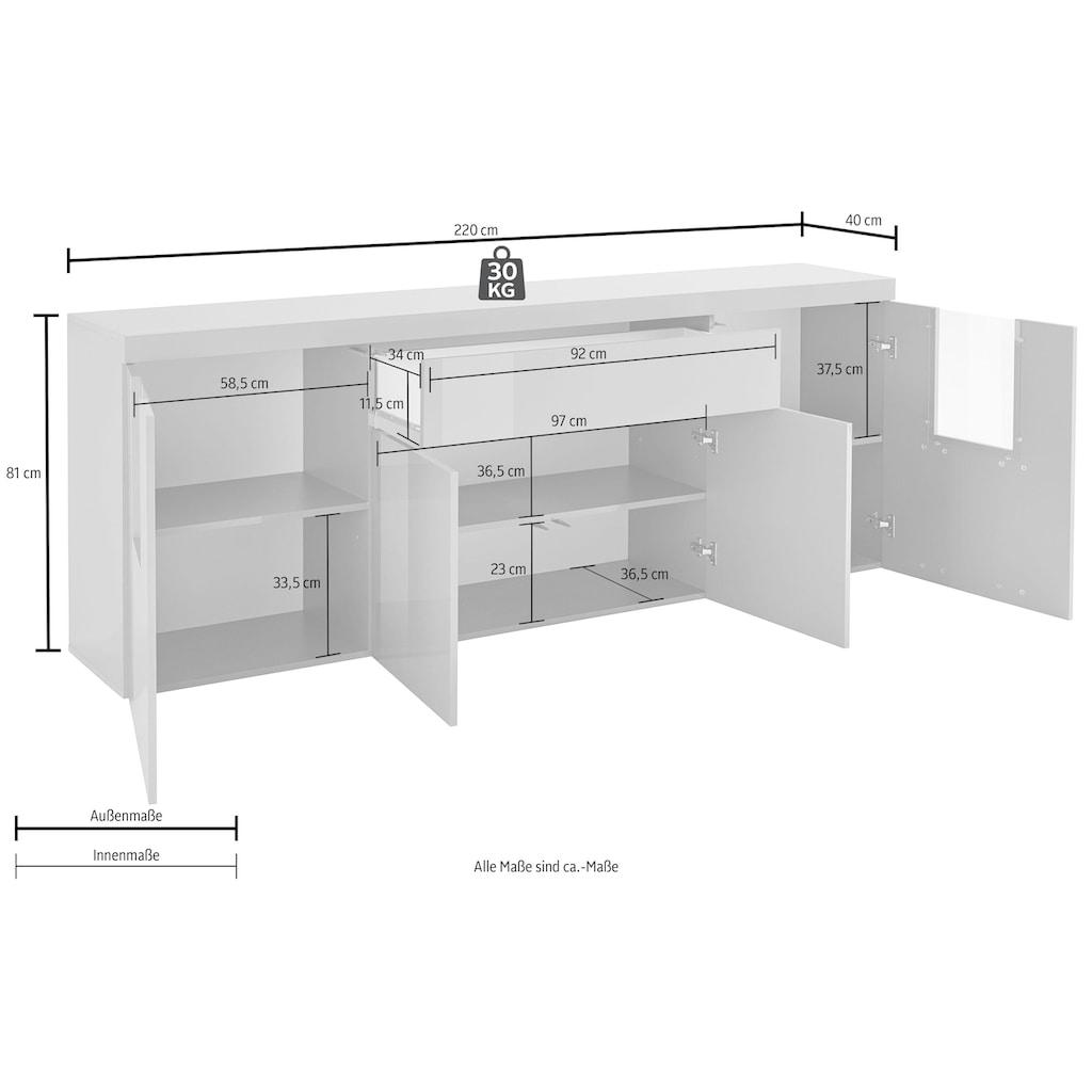 Tecnos Sideboard »Slot«, Breite 220 cm