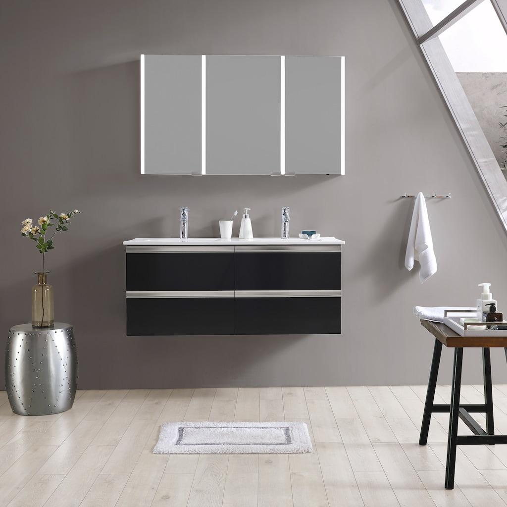 maw by GEO Badezimmerspiegelschrank »A-SPS12070 LED-Spiegelschrank 3-teilig«, 120x12x70 cm