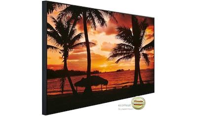 Papermoon Infrarotheizung »Palm Beach in der Abenddämmerung«, sehr angenehme... kaufen