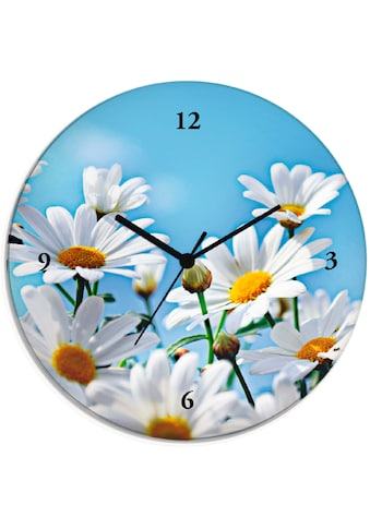 Artland Wanduhr »Blumen - Margeriten«, lautlos, ohne Tickgeräusche, nicht tickend,... kaufen