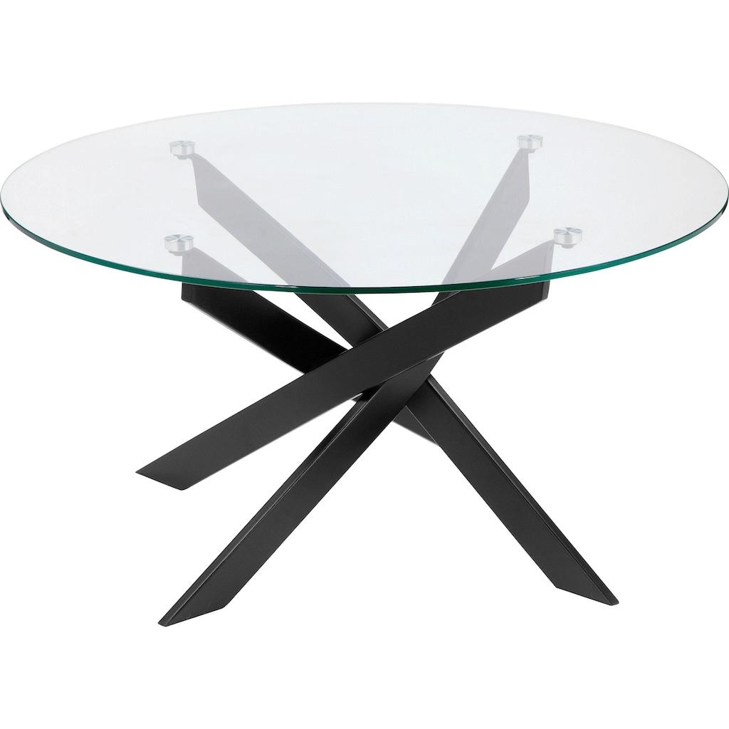 Leonique Couchtisch »Luzie«, in modernem Design, Tischplatte aus Glas