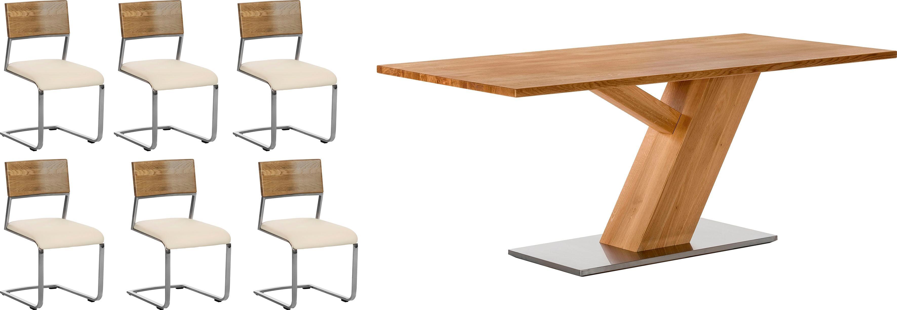 Places of Style Essgruppe bestehend aus dem Tisch Ranger und den Stühlen Aurea (5 oder 7tlg)