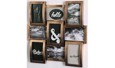 Home affaire Bilderrahmen Collage, für 9 Bilder, (1 St.), Fotorahmen, kupfer/schwarz kaufen