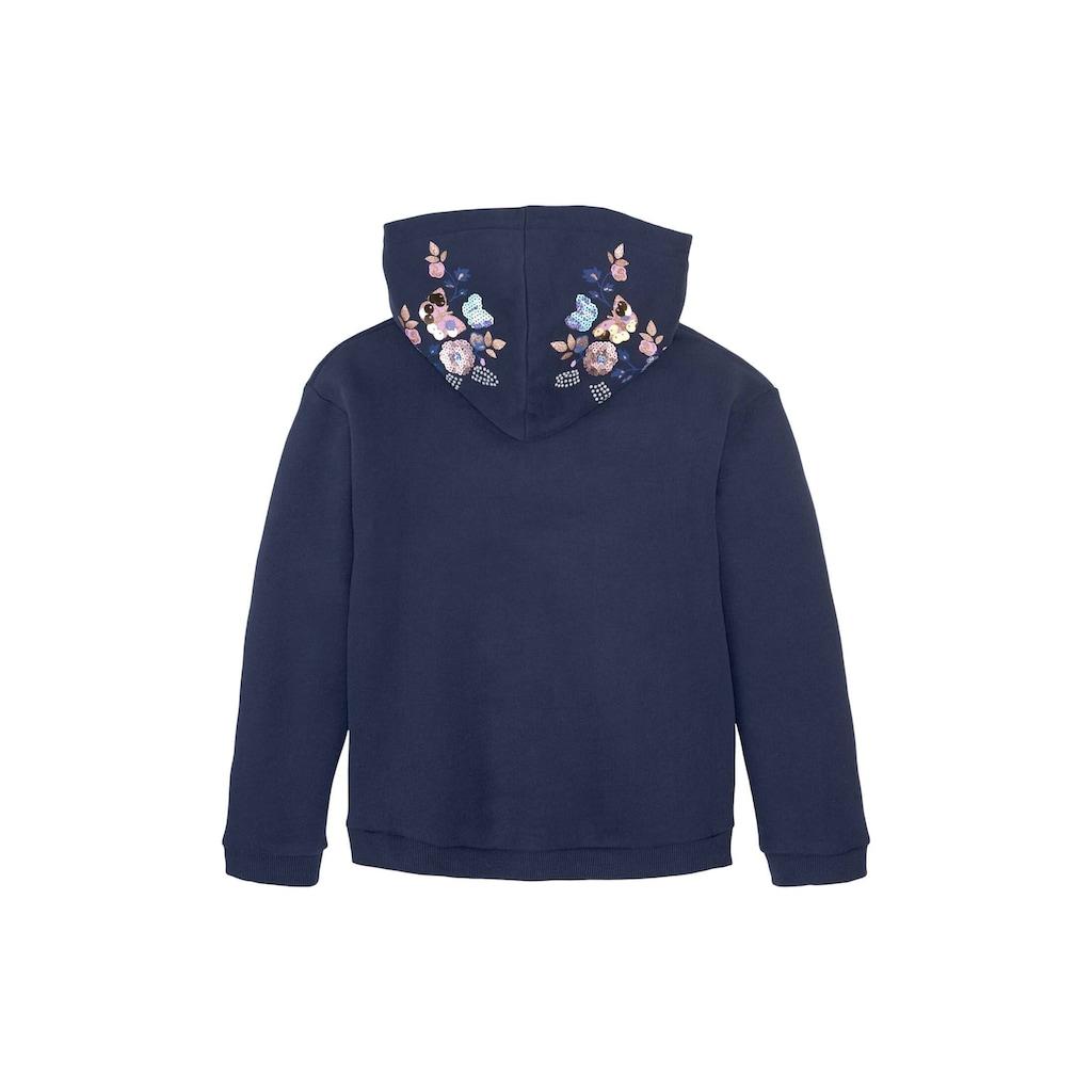 TOM TAILOR Sweatshirt »Hoodie mit Pailletten-Verzierung«