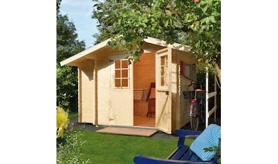 Kiehn - Holz Set: Gartenhaus »Schwarze Berge«, BxT: 362x263 cm, Anbauschrank, Schleppdach + Fußboden kaufen